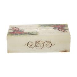 جعبه دستمال کاغذی سنگی طرح بانو مدل MR36