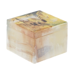 جعبه جواهرات سنگی طرح روستا مدل MR18
