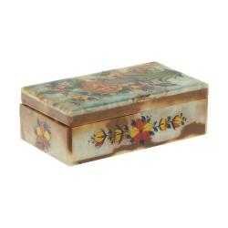 جعبه جواهرت سنگی طرح گل و مرغ مدل MR21
