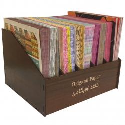 کاغذ اوریگامی کد 11 مجموعه 1200 عددی به همراه استند نگهدارنده کاغذ