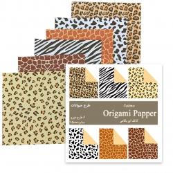 کاغذ اوریگامی مدل حیوانات کد X20 بسته 48 عددی