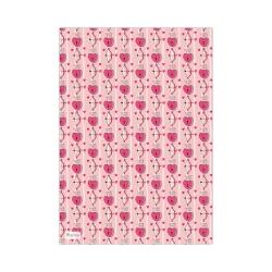 کاغذ کادو آلما طرح تیر کمان عشق مدل PINKI055 بسته 5 عددی