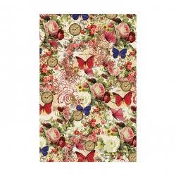 کاغذ کادو مدل پروانه و ساعتکد 318 بسته 3 عددی