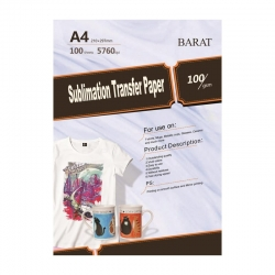کاغذ سابلیمیشن بارات مدل 100G سایز A4 بسته 100 عددی