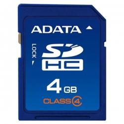کارت حافظه SDHC ای دیتا 4 گیگابایت کلاس 4