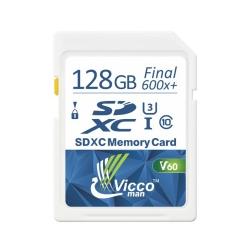 کارت حافظه SDXC ویکومن مدل Extra کلاس 10 استاندارد UHS-I  سرعت90MB/S ظرفیت 128 گیگابایت