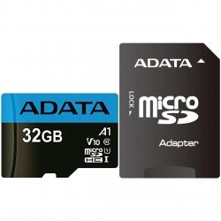 کارت حافظه microSDHC ای دیتا مدل Premier V10 A1 کلاس 10 استاندارد UHS-I سرعت 85MBps همراه با آداپتور SD ظرفیت 32 گیگابایت