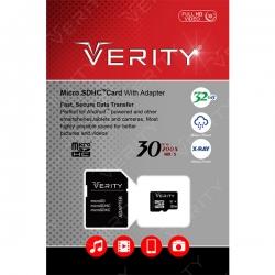کارت حافظه microSDHC وریتی کلاس 10 استاندارد UHS-I U1 سرعت 30MBps همراه با آداپتور SD ظرفیت 32 گیگابایت