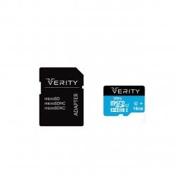 کارت حافظه microSDHC  وریتی مدل کلاس 10 استاندارد U1 سرعت 65MBps همراه با آداپتور SD ظرفیت 16 گیگابایت