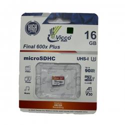 کارت حافظه microSDHC ویکومن مدل A1 V30 600X کلاس 10 استاندارد UHS-I U3 سرعت 90MBps ظرفیت 16گیگابایت