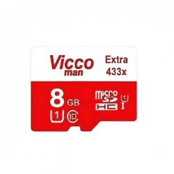 کارت حافظه microSDHC ویکومن مدل Extra 433X کلاس 10 استاندارد UHS-I U1 سرعت 65MBps ظرفیت 8 گیگابایت