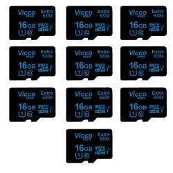 کارت حافظه microSDHC ویکومن مدل Extre 533X کلاس 10 استاندارد UHS-I U1 سرعت80MBps ظرفیت 16 گیگابایت بسته 10 عددی