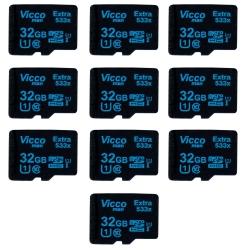 کارت حافظه microSDHC ویکومن مدل Extre 533X کلاس 10 استاندارد UHS-I U1 سرعت80MBps ظرفیت 32 گیگابایت بسته 10 عددی