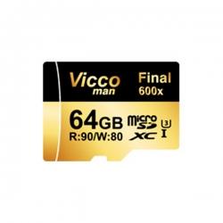 کارت حافظه microSDXC ویکو من مدل Final 600X کلاس 10 استاندارد UHS-I U3 سرعت 90MBps ظرفیت 64گیگابایت همراه با آداپتور SD;;;;;