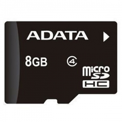 کارت حافظه میکرو SDHC ای دیتا کلاس 4 – 8 گیگابایت