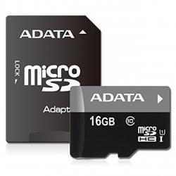 کارت حافظه microSDHC ای دیتا مدل Premier کلاس 10 استاندارد UHS-I U1 سرعت 30MBps همراه با آداپتور تبدیل ظرفیت 16 گیگابایت