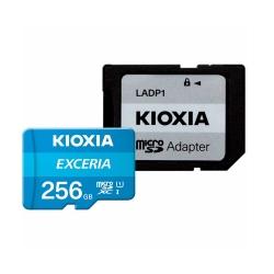 کارت حافظه microSDHC کیوکسیا مدل EXCERIA کلاس 10 استاندارد UHS-I U1 سرعت 100MBps ظرفیت 256 گیگابایت به همراه آداپتور SD