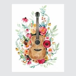 کارت پستال ماهتاب طرح گیتار موسیقی کد 1712