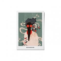 کارت پستال ماسا دیزاین طرح دختر کد POST23