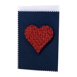 کارت پستال مدل اوریگامی برجسته طرح قلب کد 10212117