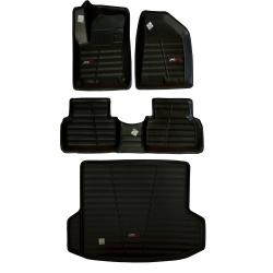 کفپوش سه بعدی خودرو لاستیک گیلان کد 1022 مناسب برای جک S5 به همراه کفپوش صندوق