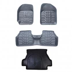کفپوش سه بعدی خودرو مدل SS-65 مناسب برای تیبا به همراه کفپوش صندوق خودرو