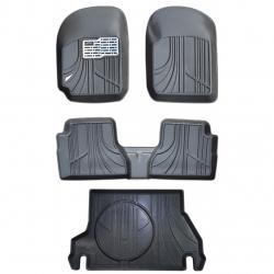کفپوش سه بعدی خودرو مکس مدل SS-65 مناسب برای پراید 132 به همراه کفپوش سه بعدی صندوق خودرو