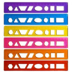 خط کش 20 سانتی متری کد DR001 بسته 6 عددی