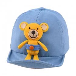 کلاه کپ بچگانه مدل خرس 015 رنگ آبی