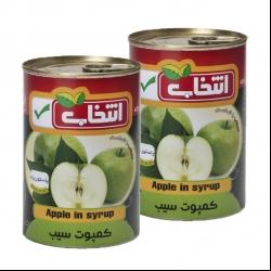 کمپوت سیب انتخاب – 420 گرم بسته 2 عددی
