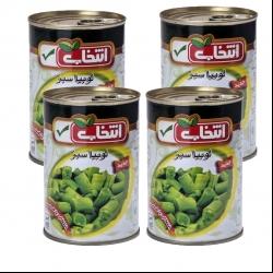 کنسرو لوبیا سبز انتخاب – 420 گرم بسته 4 عددی