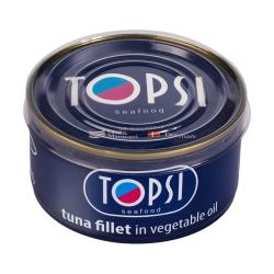 کنسرو ماهی فیله در روغن گیاهی تاپسی  – 180 گرم