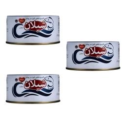 کنسرو ماهی تن در روغن شیلان – 180 گرم بسته 3 عددی