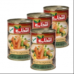 کنسرو مخلوط سبزیجات انتخاب – 420 گرم بسته 4 عددی