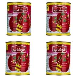 کنسرو رب گوجه فرنگی خوشاب – 800 گرم بسته 4 عددی