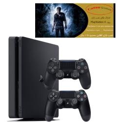 کنسول بازی سونی مدل Playstation 4 Slim ریجن 2 کد CUH-2216B ظرفیت 1 ترابایت به همراه دسته اضافه و 10 بازی