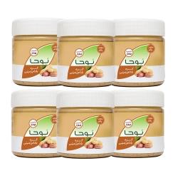 کره بادام زمینی ساده نوحا ساده – 250 گرم بسته 6 عددی