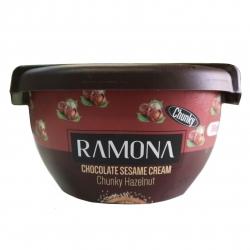 کرم کنجد شکلاتی با تکه های فندق رامونا – 180 گرم