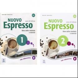 کتاب Nuovo Espresso اثر Giovanna Rizzo انتشارات آلما ادیزونی 2 جلدی