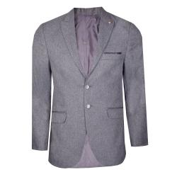 کت تک مردانه مدل فاستونی رنگ طوسی