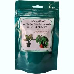 کود کامل پودری NPK رشد رویشی و زایشی گیاهان خانگی مدل 02 وزن 100 گرم