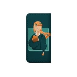 کیف پول مدل دست دوز طرح دختر پرتقالی کد nnb010