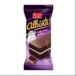 کیک کاکائویی با کرم شیری البینا شیرین عسل – 40 گرم بسته 36 عددی