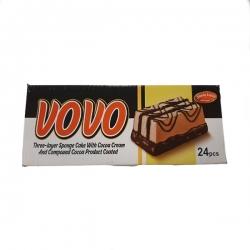 کیک سه لایه شکلاتی با مغزی کاکائو شیرین وطن – 60 گرم بسته 24 عددی