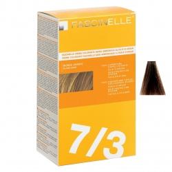 کیت رنگ مو فشینلی سری Golden مدل زیتونی طلایی تیره شماره 7.3