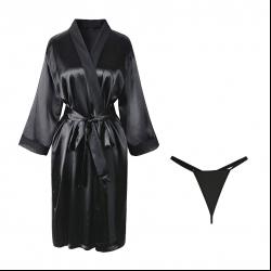 لباس خواب زنانه مدل مهتاب کد 200 رنگ مشکی