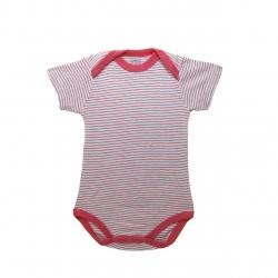 لباس زیر دکمه دار آستین کوتاه دخترانه کارترز مدل red lines