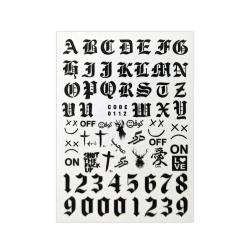 لنز ناخن مدل حروف انگلیسی کد 112