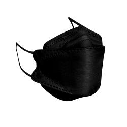 ماسک تنفسی باران مدل سه بعدی چهار لایه KF94-BLA بسته 15 عددی