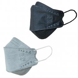 ماسک تنفسی بهسا مدل سه بعدی 3D-BSA-12-BcGr بسته 12 عددی